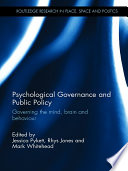 Psychological Governance and Public Policy Book