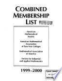 Combined Membership List of the American Mathematical Society, Mathematical Association of America, and the Society for Industrial and Applied Mathematics