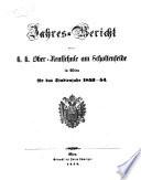 Jahresbericht der k.k. Ober-Realschule am Schottenfelde in Wien