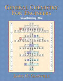 General Chemistry for Engineers Book