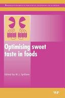 Optimising Sweet Taste in Foods Book