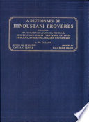 A dictionary of hindustani proverbs
