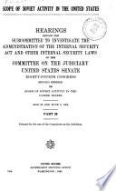 Scope of Soviet Activity in the U S  Book