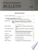 General Semantics Bulletin