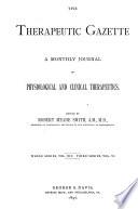 Therapeutic Gazette Book PDF