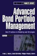 Advanced Bond Portfolio Management Chapter 6 Custom Reprint