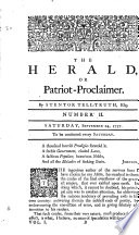 The Herald Or Patriot Proclaimer By Stentor Tell Truth