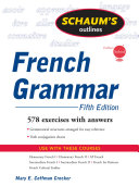 Schaum's Outline of French Grammar, 5ed