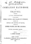 Appletons' Companion Hand-book of Travel