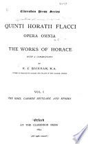 Opera Omnia  Works  The odes  Carmen seculare  Epodes Book