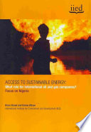 Access To Sustainable Energy Book PDF