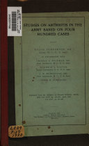 Studies on arthritis in the Army based on four hundred cases