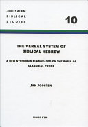 The Verbal System of Biblical Hebrew