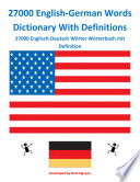 27000 English German Words Dictionary With Definitions
