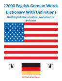 27000 English-German Words Dictionary With Definitions
