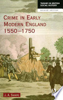 Crime In Early Modern England 1550 1750