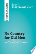 No Country for Old Men by Cormac McCarthy  Book Analysis