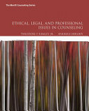 Ethical  Legal  and Professional Issues in Counseling  Loose Leaf Version