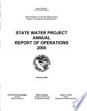 State Water Project Annual Report of Operations
