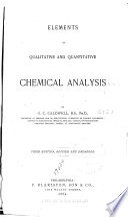 Elements of Qualitative and Quantitative Chemical Analysis