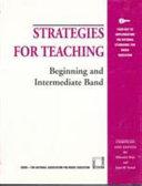 Strategies for Teaching Beginning and Intermediate Band Book