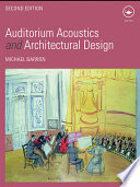 Auditorium Acoustics And Architectural Design Book PDF