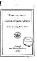 Proceedings of the Ulster County Legislature