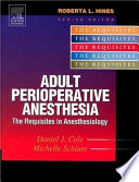 Adult Perioperative Anesthesia