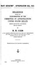 Navy Department Appropriation Bill 1923