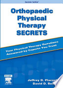 """Orthopaedic Physical Therapy Secrets E-Book"" by Jeffrey D. Placzek, David A. Boyce"
