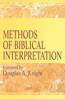 Methods Of Biblical Interpretation