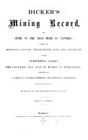Dicker's Mining Record, and Guide to the Gold Mines of Australia