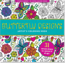 Butterfly Designs Artist's Coloring Book (31 Stress-Relieving Designs)