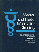 Medical and Health Information Directory Book