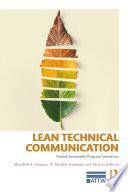Lean Technical Communication