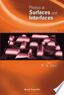 Physics at Surfaces and Interfaces