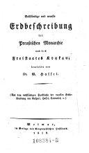 Erster Abtheilung, Dritter Band, welcher die Preußische Monarchie und den Freistaat Krakau enthält