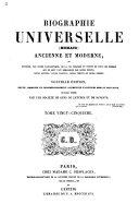 Biographie universelle (Michaud) ancienne et moderne ...