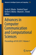 Advances in Computer Communication and Computational Sciences Book