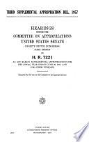 Third Supplemental Appropriation Bill  1957