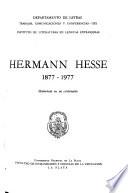 Hermann Hesse, 1877-1977