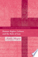 Human Rights  Culture and the Rule of Law