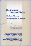 The University, State, and Market