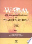 """15th Wear of Materials"" by P Blau, S. J. Shaffer, Steven L. Shaffer"