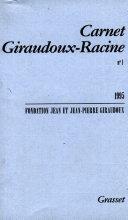Carnet Giraudoux Racine
