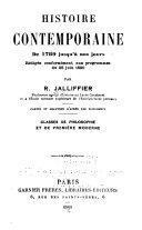Histoire contemporaine de 1789 jus qu'à nos jours