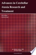 Advances In Cerebellar Ataxia Research And Treatment 2012 Edition Book PDF