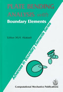 Plate Bending Analysis with Boundary Elements