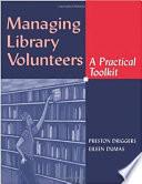 Managing Library Volunteers