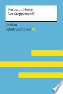 Der Steppenwolf von Hermann Hesse: Reclam Lektüreschlüssel XL